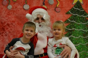 Tristan and Adalyn tell Santa what they want most for Christmas