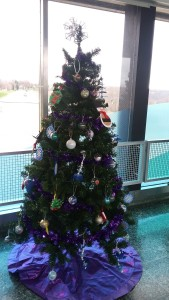 Job training/day program division contributed a beatifully decorate tree to the Power Authority's Festival of Trees