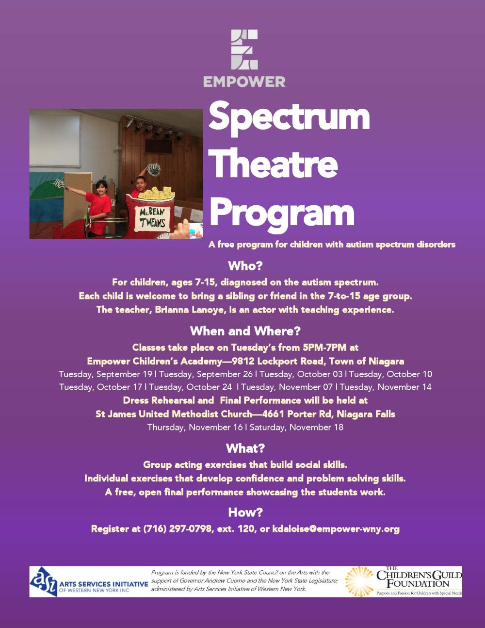Spectrum Fall Flyer