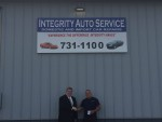 Empower CEO Jeff Paterson and Integrity Auto Service owner Dave Mastracci