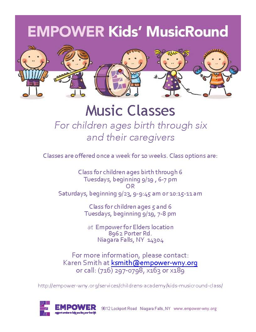 Kids Music Round flyer