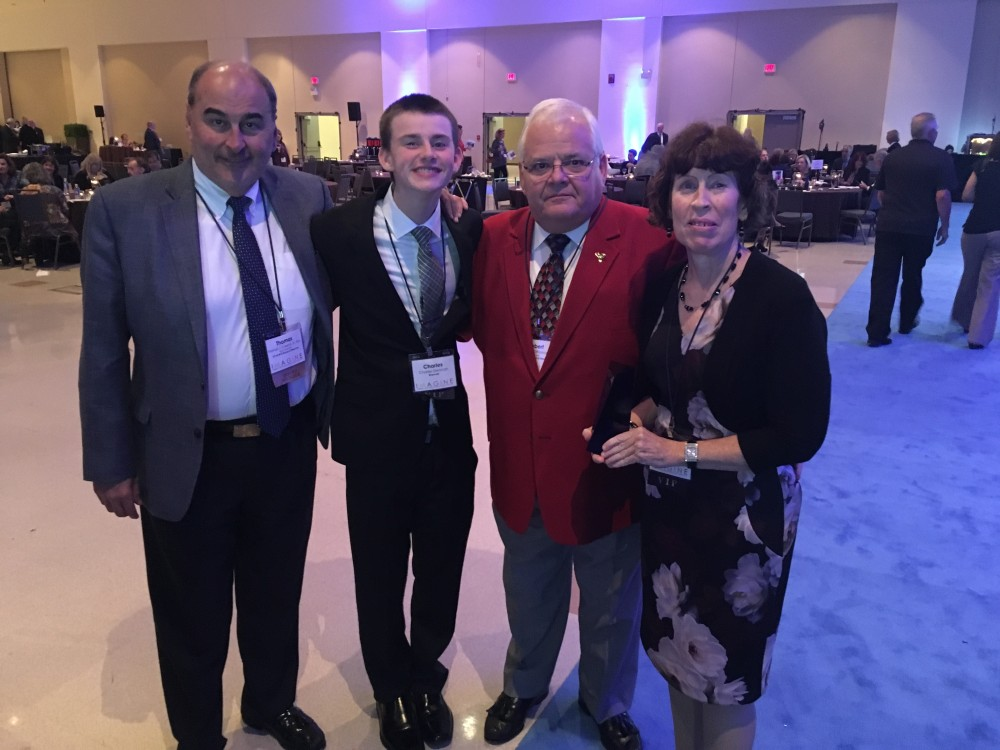 From left to right: Empower BOD member Tom Caserta, Charles Dieteman, Empower BOD member and Past President Bob DiFrancesco and KimKiely