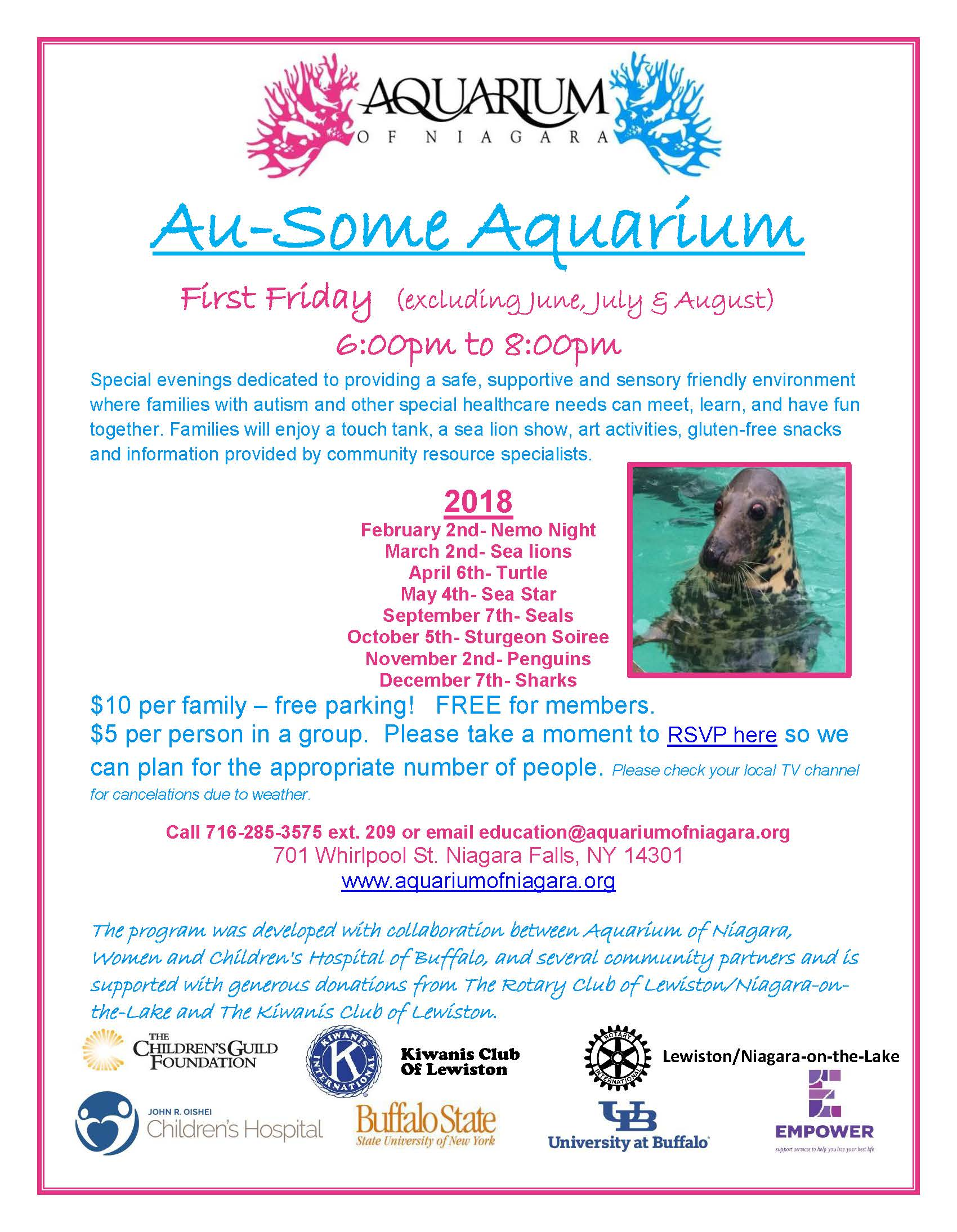 2018 au-some aquarium flyer