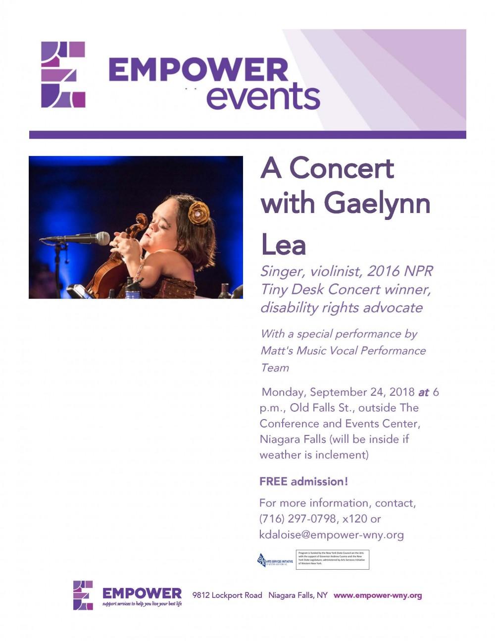 Concert with Gaelynn Lea