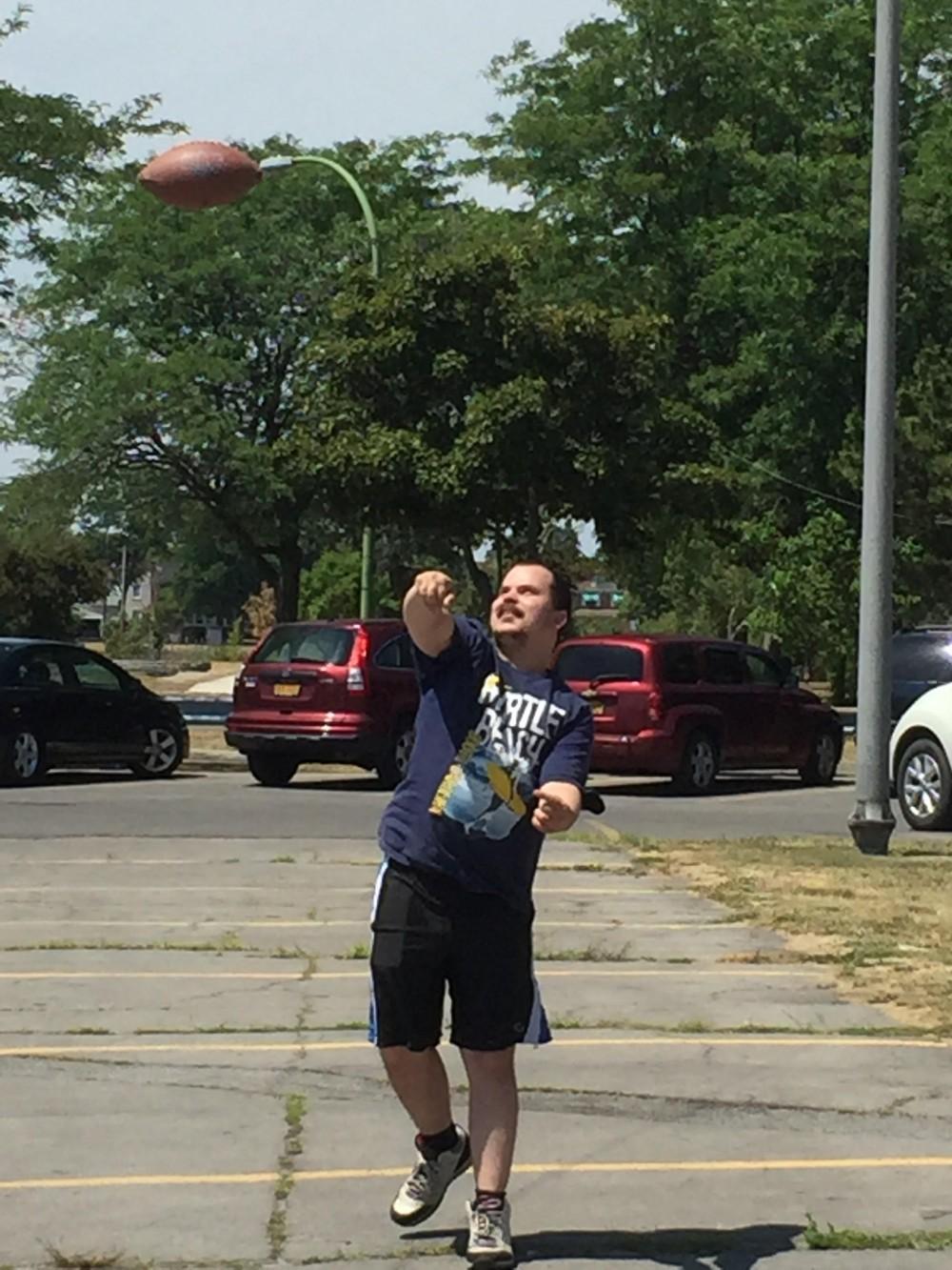 Marshaun throwing football