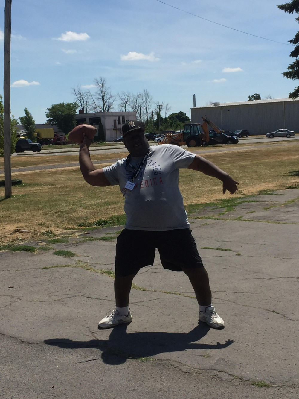 Wendel throwing football