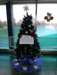 Beautifully decorated tree, thanks to the group's hard work.  Photos taken by Danelle Hillman.