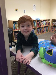 Hunter participates in Empower's Children's Academy's after school program