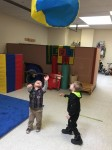 Students having fun while receiving physical therapy