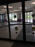 Atrium where buses drop off students
