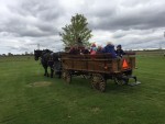 Students went on a carriage ride around the school in the fall