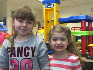 Two students, one typically developing and a preschooler with a disability, who became best friends here at Empower Children's Academy.