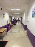 Second hallway with seven classrooms and the nurse's office