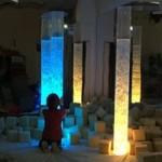 Sensory room all lit up