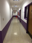 Hallways connecting two hallways, with speech therapy and counselor offices