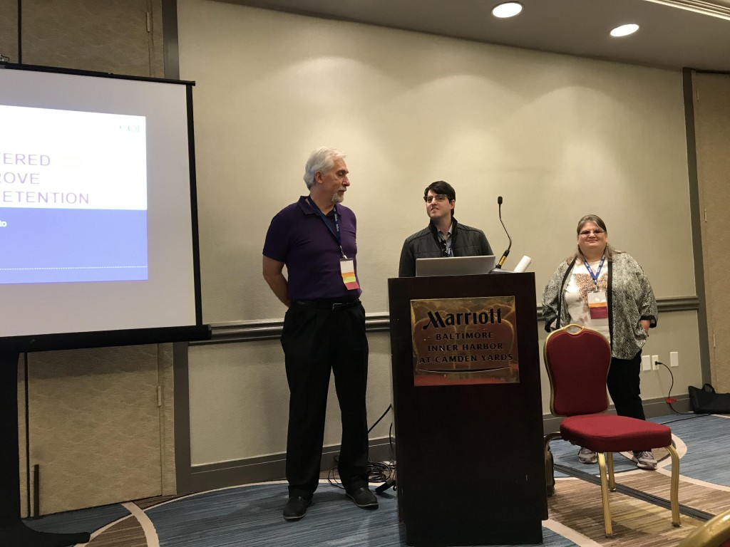 From left to right: Director of Managed Care Readiness Eric DesSoye, Director of Staff Learning & Training Brandon Jerla and Jackie McGrath giving their presentation at the CQL conference