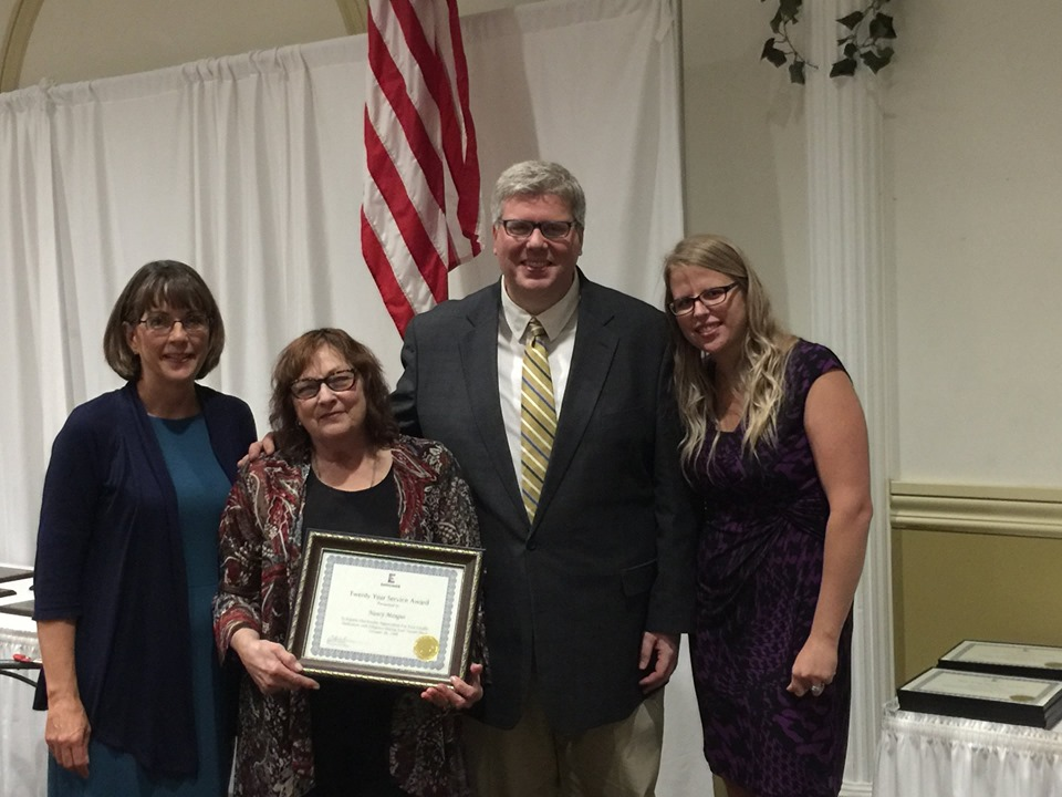 Budget Manager Nancy Biro-Mangus was recognized for her 20 years of service.