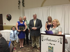 The Family of the Year award was presented to the Gattie Family.
