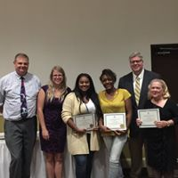 Kadejah Hamilton, Martina Mulkey and Carole Painter were honored for 5 years of service.