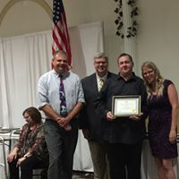 Russ Polvino received a 20 years of service award.