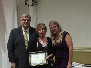 Job Training & Day Program's Director Kim Kiely was honored for 30 years of service.