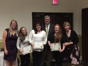 5 years of service honorees: Jennifer Burns, Danelle Hillman and Jodi Bevilacqua