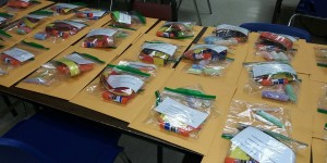 Learning packets were delivered to students' home by Children's Academy staff in early April